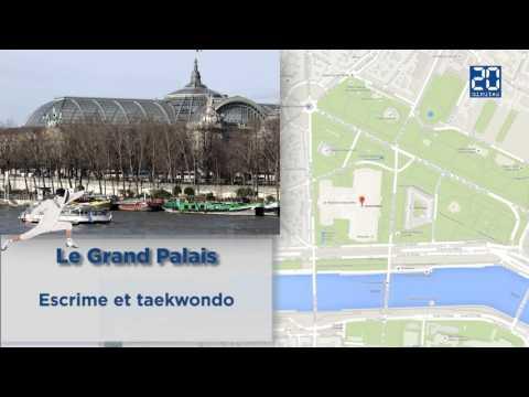 Paris: La carte des principaux sites olympiques de 2024