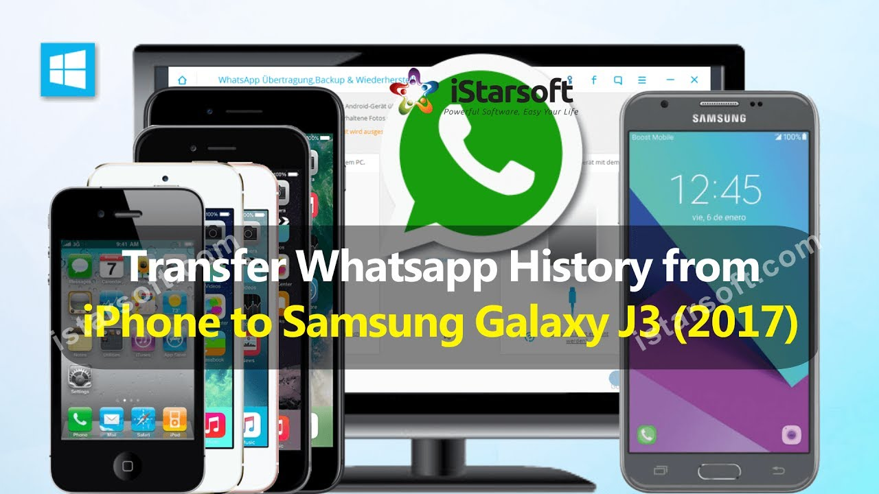 Transfer whatsapp history from iphone to samsung galaxy