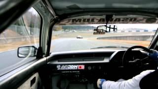 2013 2 16 岡山国際circuit osakajdm 60年式 ワンダーシビックvs35GTR trybox 走行会