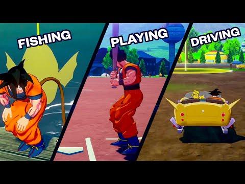 Dragon Ball Z Kakarot - Playing All Activities [Driving A Robo Walker, Playing Baseball...]💥