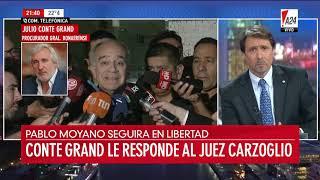 """Conte Grand le respondió a Carzoglio: """"No veo qué clase de presión nos pueden imputar"""""""