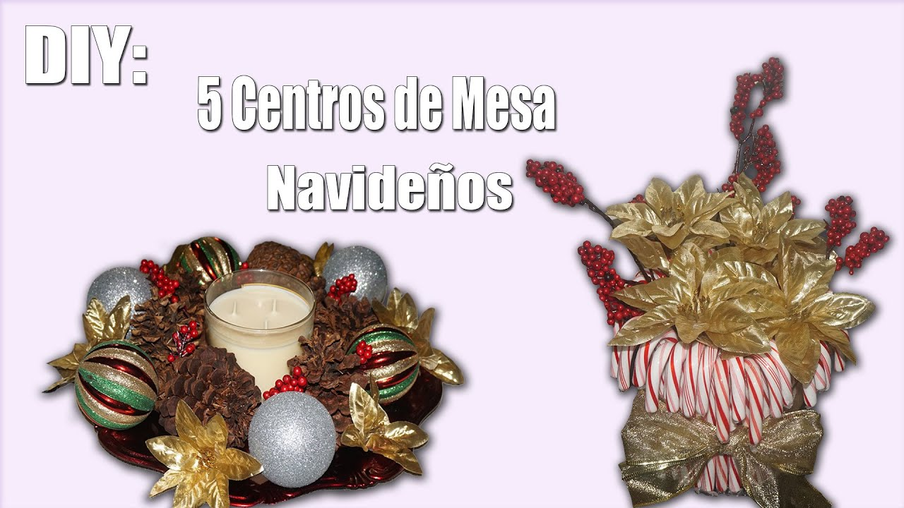 Diy 5 centros de mesa navide os christmas table for Centros de mesa navidenos