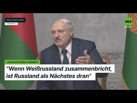 """Lukaschenko warnt: """"Wenn Weißrussland zusammenbricht, ist Russland als Nächstes dran"""""""