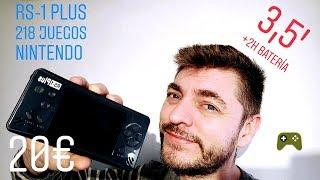 "🎮 CONSOLA PORTATIL RETRO GAME RS-1 plus, 218 juegos de Nes 👾 3,5"""