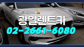 강서구장기렌트카 광일렌트카로 통일!