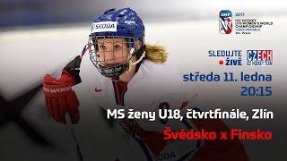 MS ženy U18, čtvrtfinále Švédsko - Finsko (Zlín)