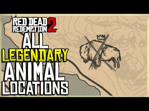 ALL LEGENDARY ANIMAL MAP LOCATIONS IN RED DEAD REDEMPTION 2 thumbnail