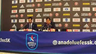 Anadolu Efes - Barcelona Lassa PlayOff 2. Maç Basın Toplantısı