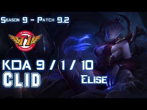 SKT Clid ELISE vs KINDRED Jungle - Patch 9.2 KR Ranked