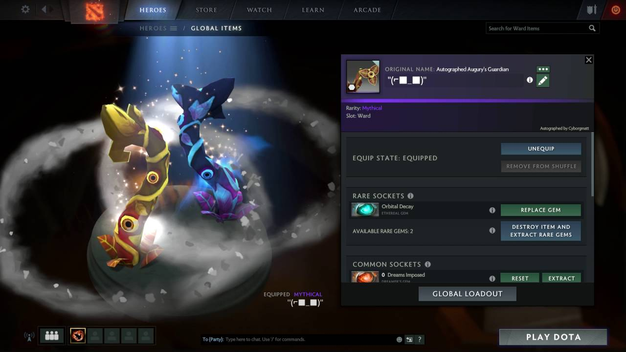 Rare Observer Ward With Ethereal Gem (dota 2)