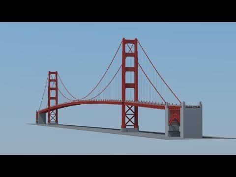 How To Build Golden Gate Bridge Minecraft