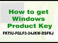 How to get Windows product key for 7/8/10