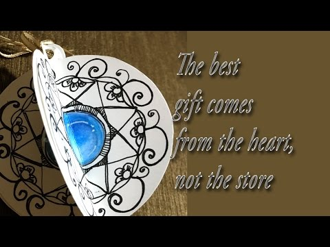 Easy Hand drawn Sapphire Holiday Doodlegem Ornament realtime