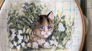 "Вышивка крестиком. Набор ""Котенок и бабочка"" Dimensions (Kitten and Butterfly)"