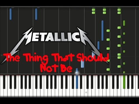 Metallica - The Thing That Should Not Be (♫) (Instrumental + Synthesia)