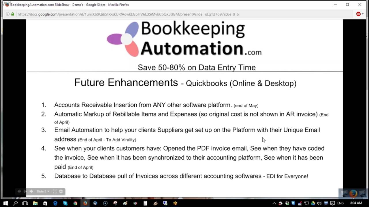 Online Demo - Bookkeeping Automation