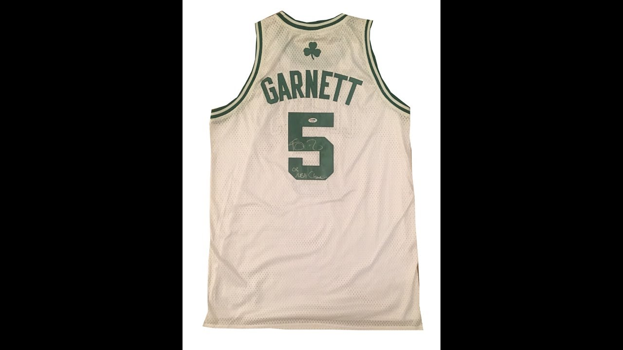 pretty nice 456c6 533e0 Kevin Garnett Autographed Boston Celtics Swingman Signed Basketball Jersey  2008 CHAMPS PSA DNA COA