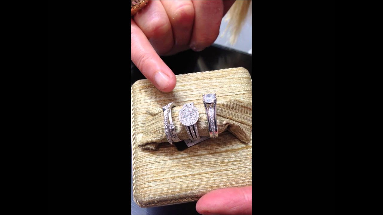 3 strand diamond engagement ring white gold, Auckland jeweller - YouTube