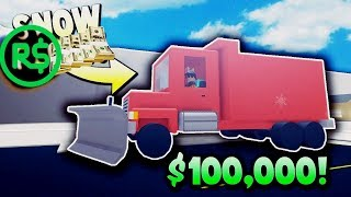 The LARGEST SNOW SHOVELLING TRUCK | Roblox ❄ ☃ Snow a Shoveling Simulator ️ Turkish ️