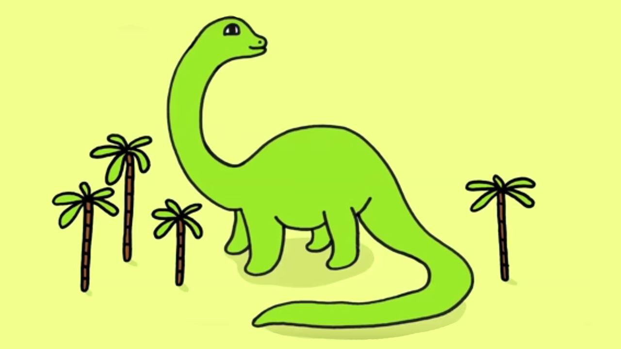 Apprendre dessiner un dinosaure diplodocus youtube - Dinosaure diplodocus ...