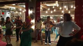 "Hukilau (Cover) - Hula Dance & Ukulele, Namiko Chan & Daniel Purnomo ""Hawaiian Night"" at ToriYard"