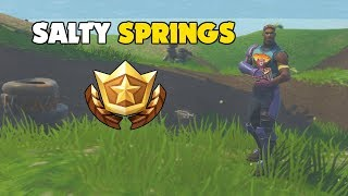 Follow the Treasure Map found in Salty Springs | Week 3 Challenges (Fortnite)