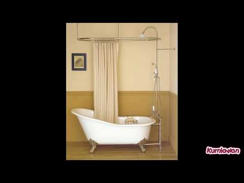 Clawfoot Bath Shower Curtain Rail