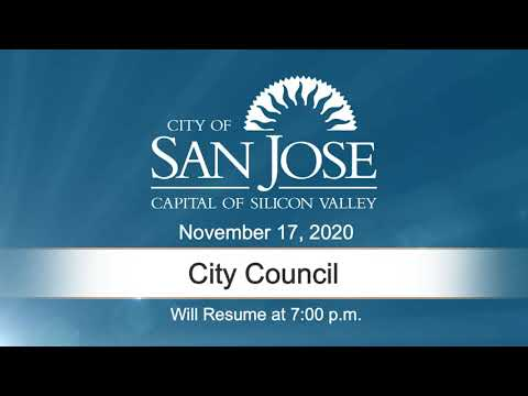 NOV 17, 2020 | City Council, Evening Session