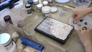 Декор обложки блокнота артбука с чипбордами, гелем и глиттерами: видео урок Натальи Жуковой