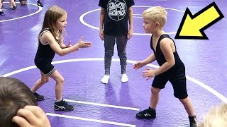 Kid39s FIRST Time WRESTLING