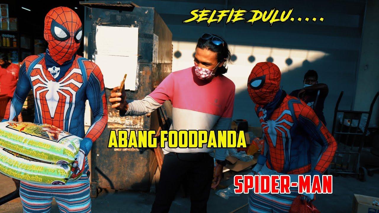 SPIDERMAN VS RIDER FOODPANDA