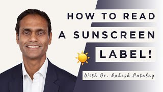 How To Read A Sunscreen Label | Dr Sam Bunting