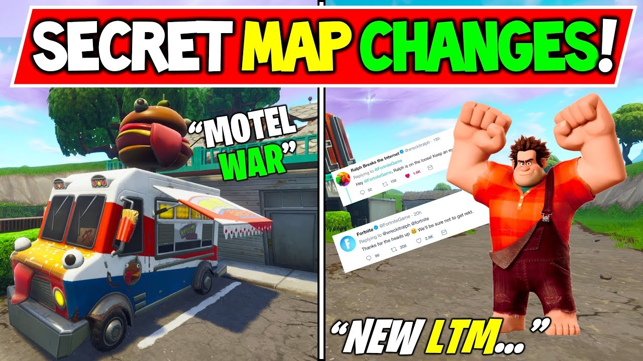 New Fortnite Secret Map Changes Wreck It Ralph Ltm Season 7