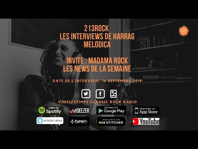 213Rock Harrag Melodica 🎧 Podcast 🎧 Olivier VinylesTimes & MadaMaRock News 16 09 2019