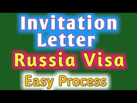 Russia Visa Invitation Letter Process