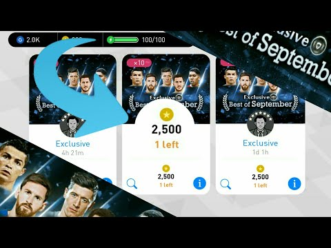 Exclusive Best of September Pack Opening 2,500 coin_ PES 2018 Mobile