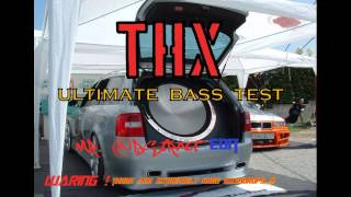 Ultimate Bass Test Song For Subwoofer / Extreme Bassdrops Song - THX & Mr. Abstract Edit