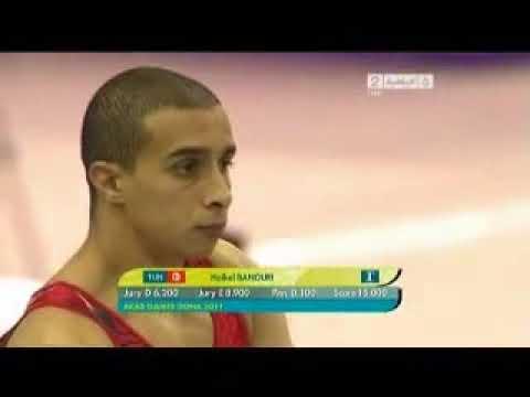 Arab games in Qatar 2011 gymnastics Vault   YouTube2