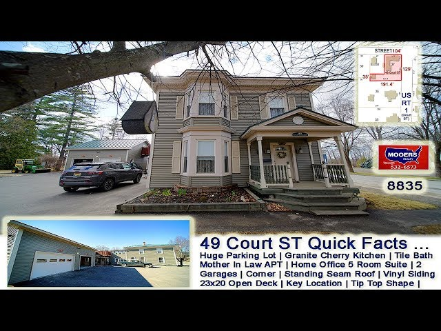 Maine Real Estate Video | 49 Court ST Houlton ME Home Office MOOERS REALTY #8835