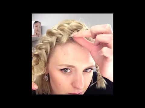 Ободок в виде Косы и локоны. Tutorial. How to Curl and make braids.
