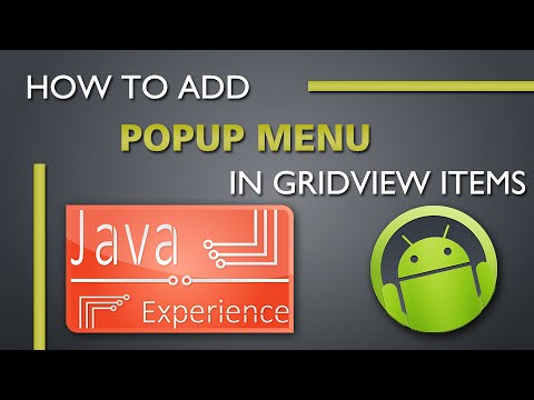 كورسات - How to add popup menu in GridView items