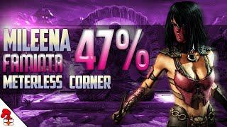 Mortal Kombat XL - MILEENA Combo Tutorial 47% Ravenous, meterless, corner  INSANE!!! | MKX