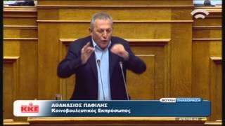 Θ. Παφίλης (Κ.Ε. ΚΚΕ) για τις επείγουσες ρυθμίσεις εφαρμογής των δημοσ/ών στόχων (19/11/15)