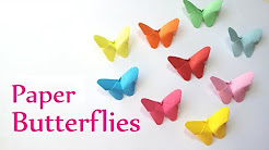 DIY crafts: Paper BUTTERFLIES (very EASY) - Innova Crafts