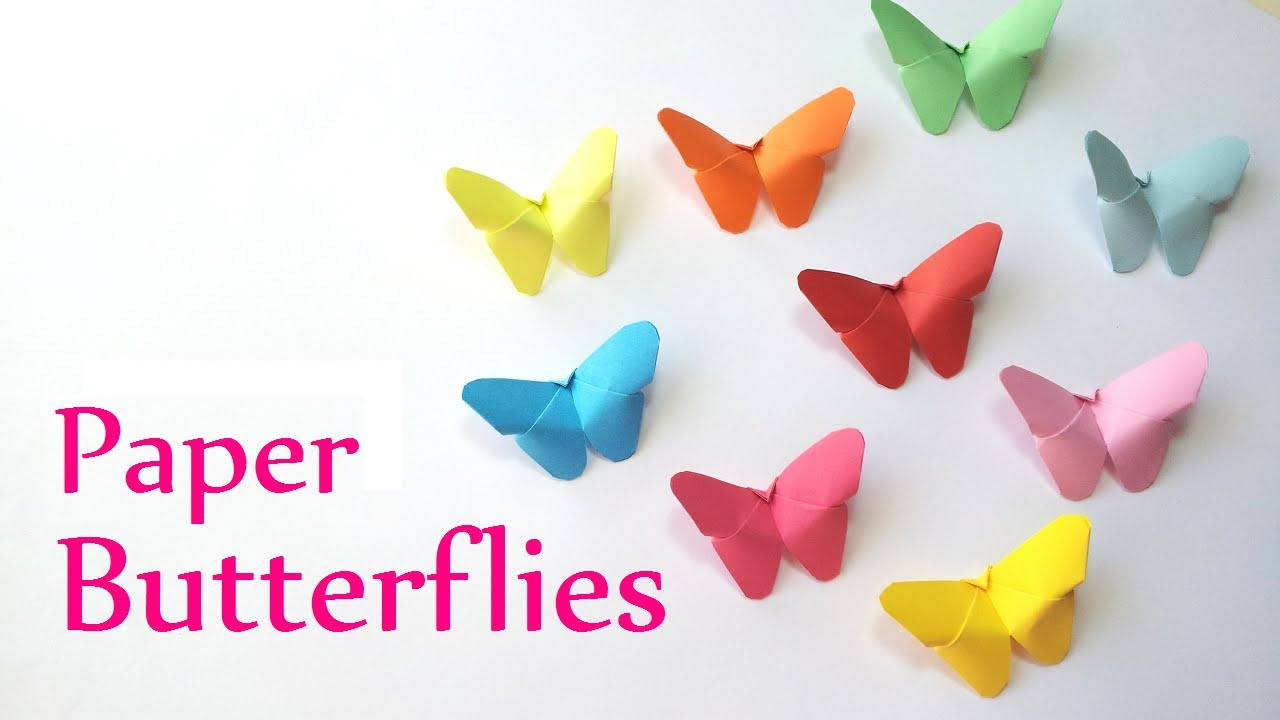 Papercraft DIY crafts: Paper BUTTERFLIES (very EASY) - Innova Crafts