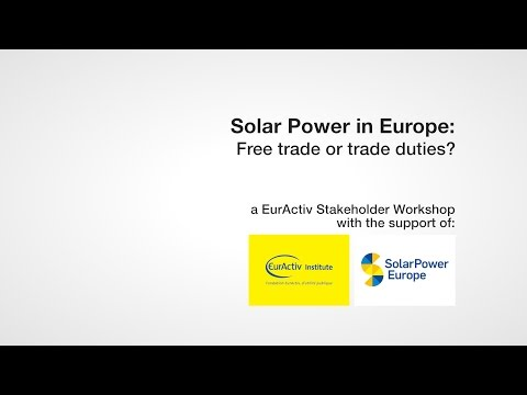 Solar power in Europe: Free trade or trade duties?