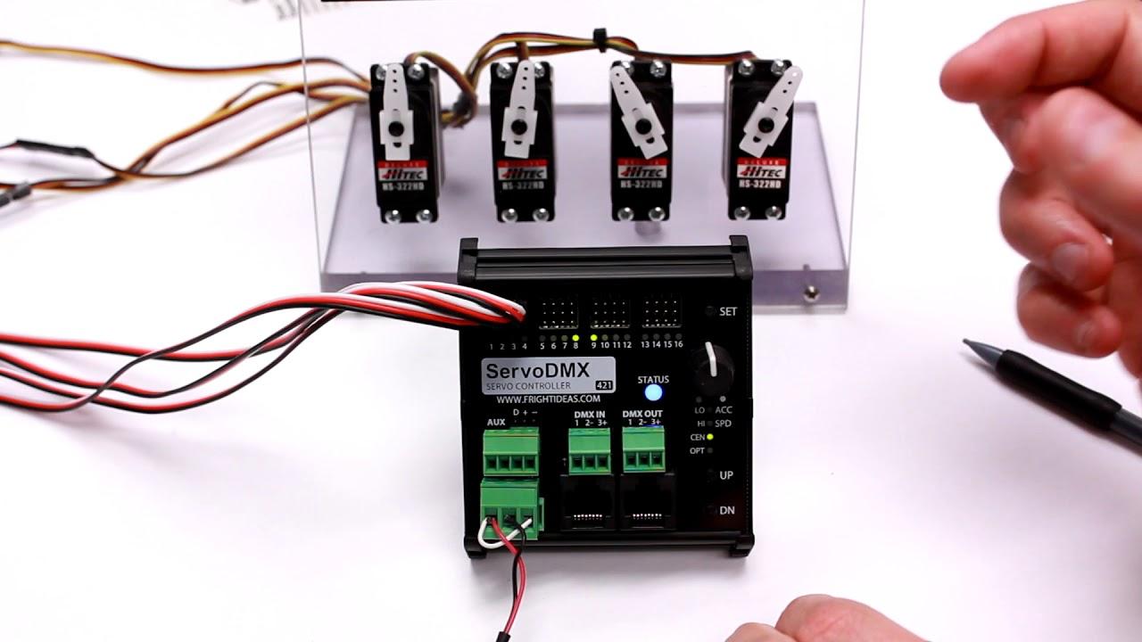hight resolution of servodmx servo setup