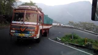tamilnadu sathy thimbam hair pin bend asanur lorry drive 3.03.2017 b