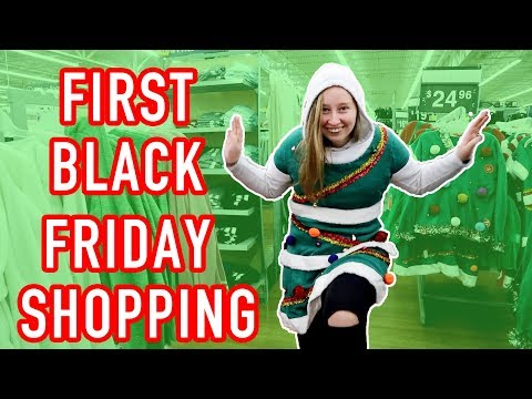 Exchange Student Goes Black Friday Shopping First Time! April and Davey Thanksgiving special