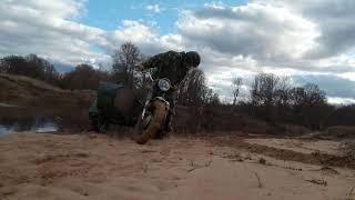 Урал-мотоблок по песку! На пляже зарылся